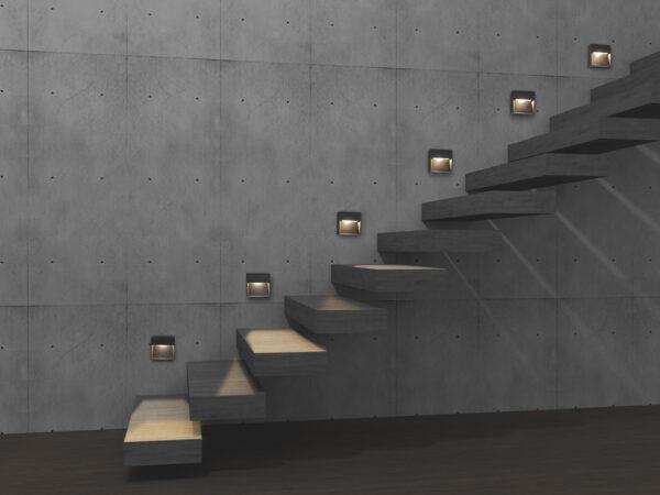ANTIDARK ARCA Step lampe ved trappe