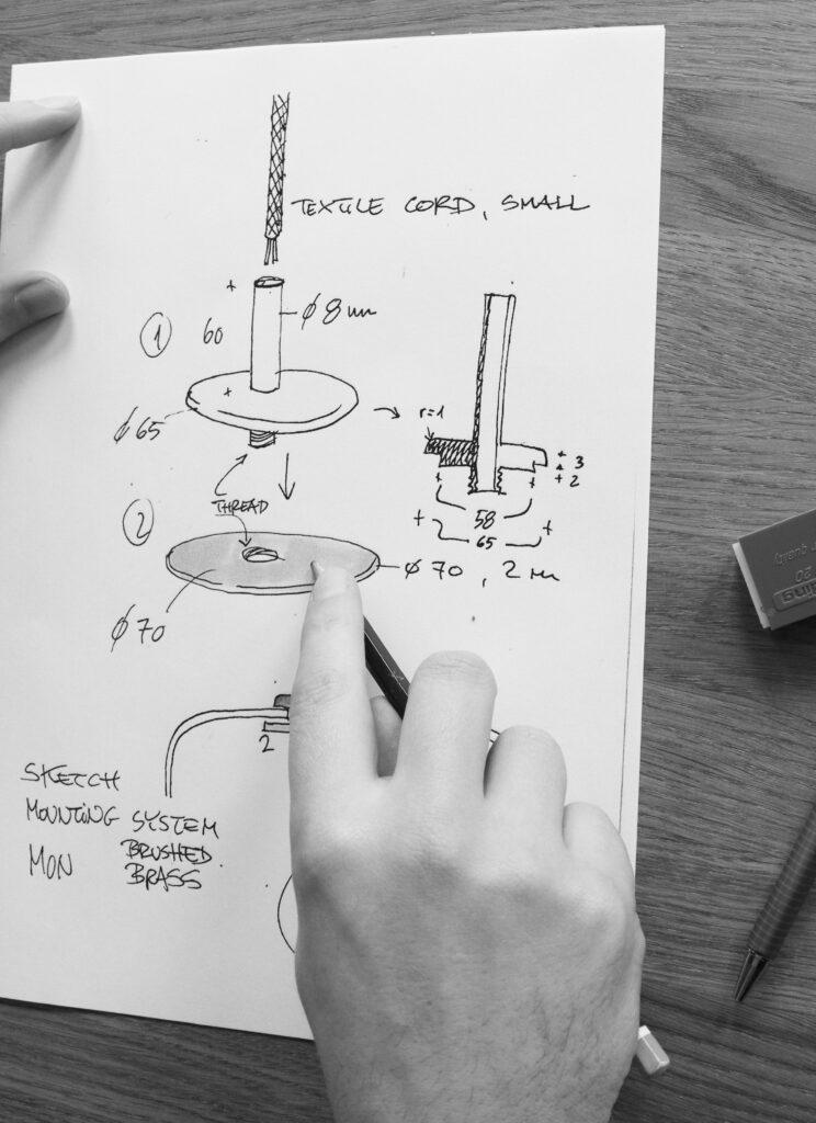 ANTIDARK Drawing design proces
