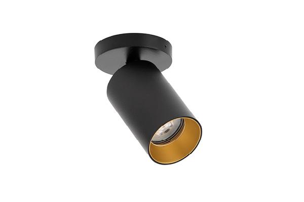 ANTIDARK SpotOn circle 1 black with gold frontring